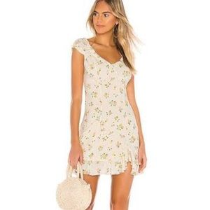 NWOT Free People Printed Tie Back Mini Dress